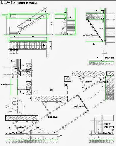 Journal3 Escaliers à structure métallique Fichier autocad à - plan maison structure metallique