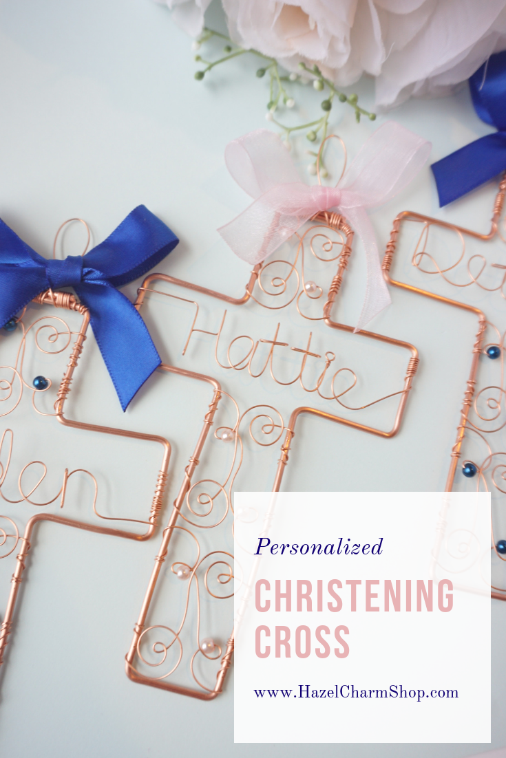 Keepsake Baptism Cross | A stunning heirloom baptism gift for little girls and boys - personalize