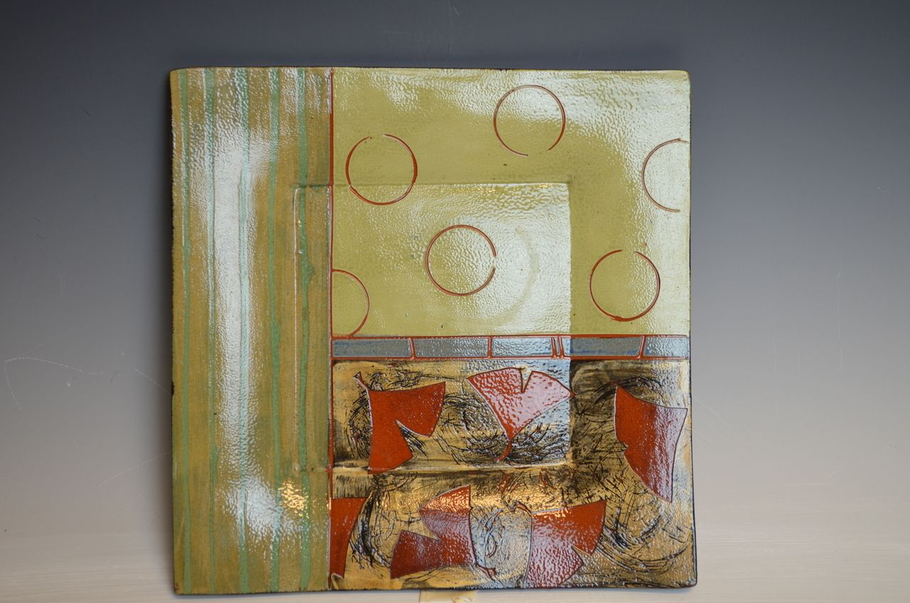 The Cooley Gallery - Jennifer Bernhard Square Plate 1, $50.00 (http://www.thecooleygallery.mybigcommerce.com/jennifer-bernhard-square-plate-1/)