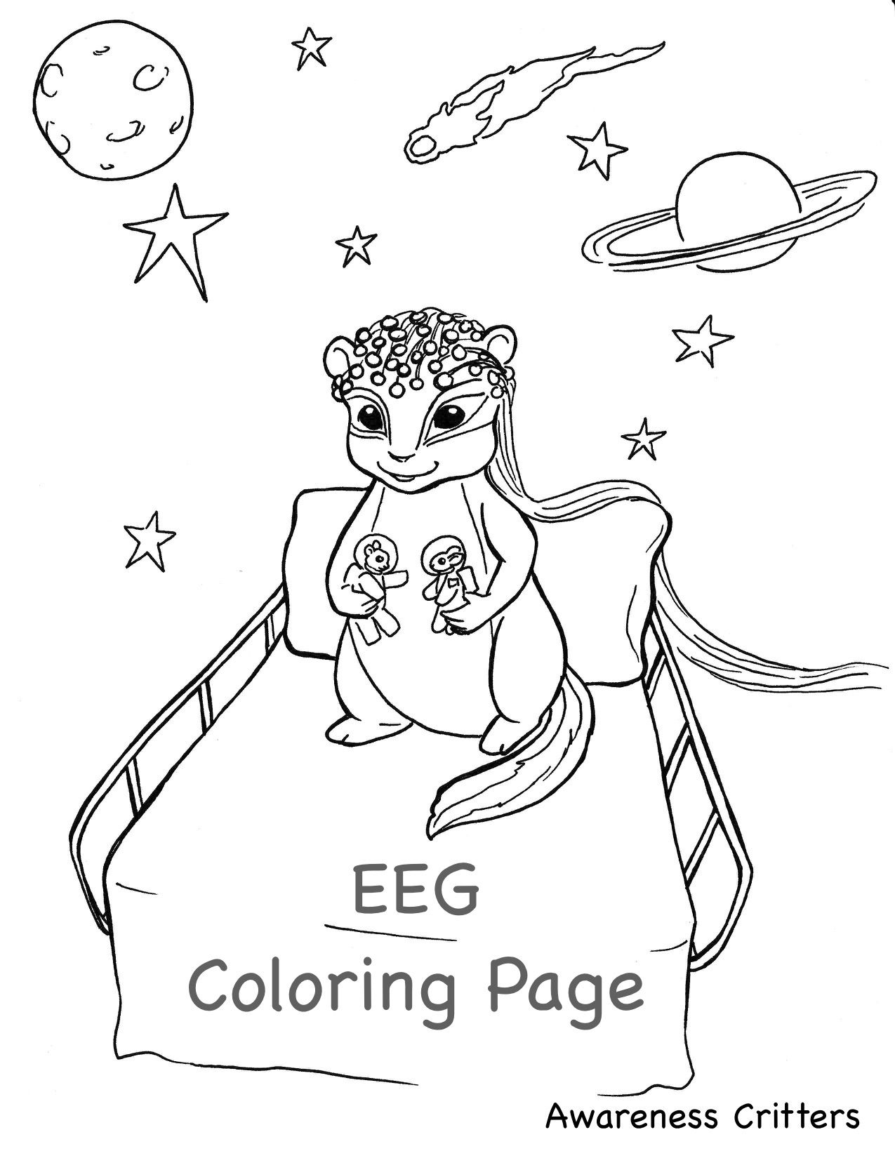 Best Coloring Pages Ever Awareness Critters Eeg Awareness