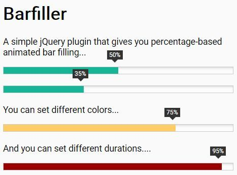 Responsive Animated Progress Bar With Jquery And Css  BarfillerJs