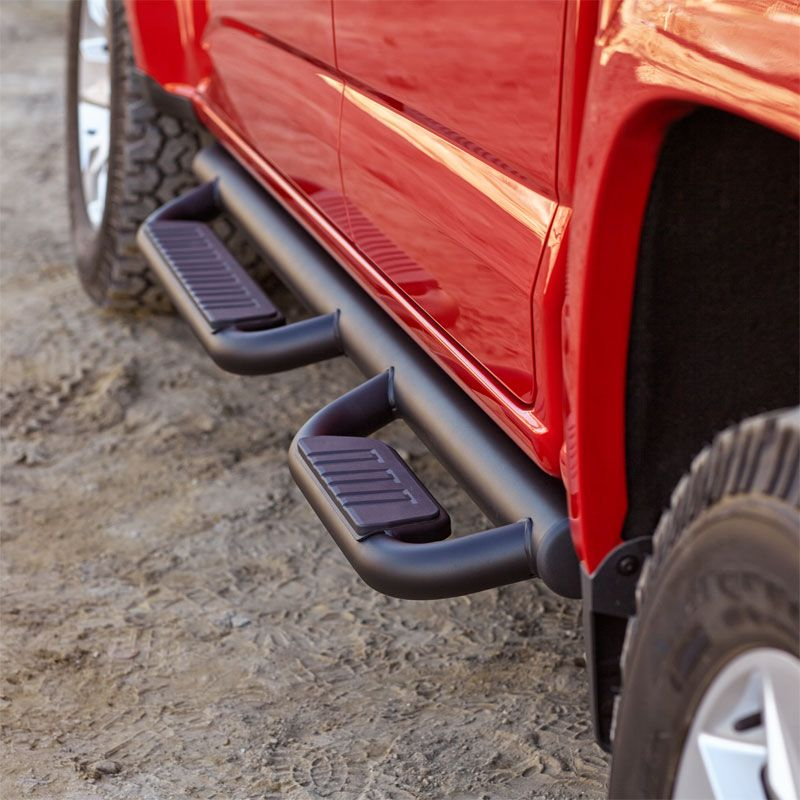 Chevrolet Colorado Crew Cab 3in Round Bent Steel Nerf Bars Lund 2015 Black