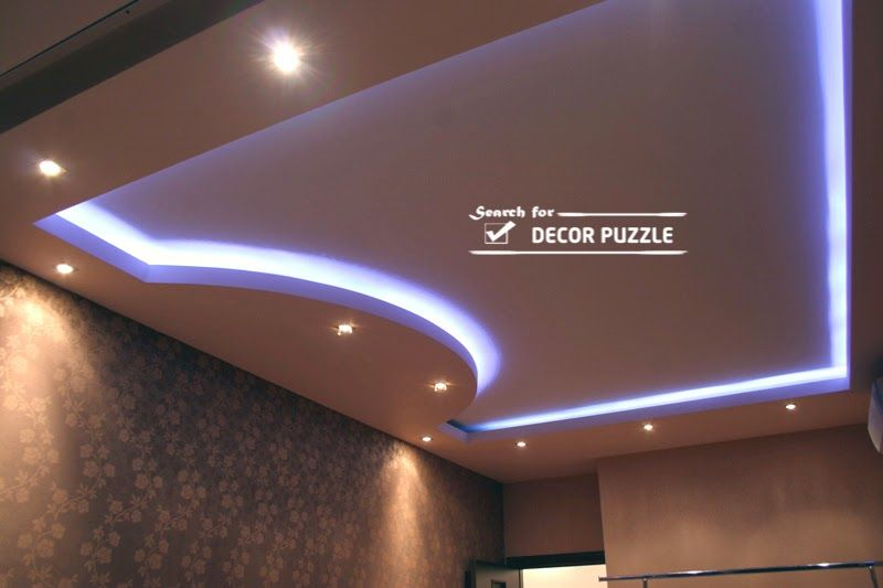 roof ceiling designs images, POP false ceiling LED lights