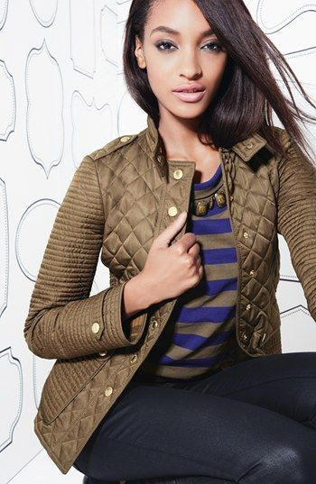 Burberry Brit 'Willsmoore' Quilted Snap Front Jacket | Nordstrom ... : nordstrom burberry quilted jacket - Adamdwight.com