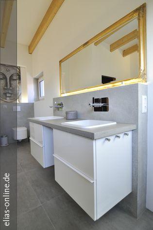 Hier Erstellten Wir Ein Modernes Badezimmer Im Puristischen Beton Cire  Design