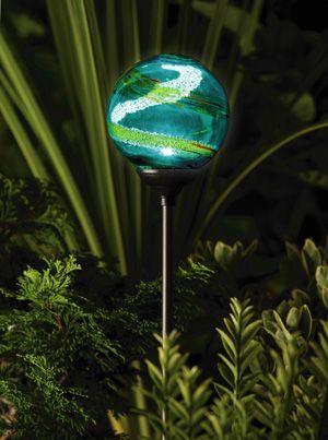 Murano Globe Solar Ed Garden Lights 3 Colours Decorative Lamps