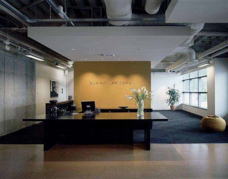 Law office reception design modern office reception space for Law office design ideas
