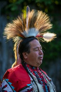 Tim McGregor of Rolling Thunder Dance Traditions. An Aboriginal Troupe that performs on the Great Spirit Circle Trail