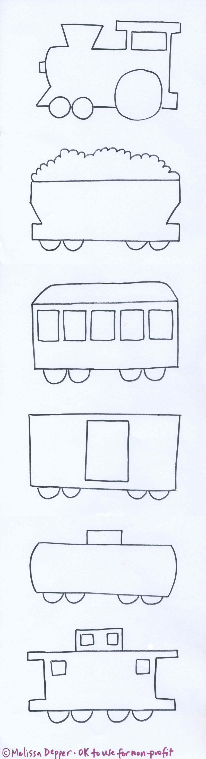 Train templates | Medios de transporte | Pinterest | Tren, Molde y ...