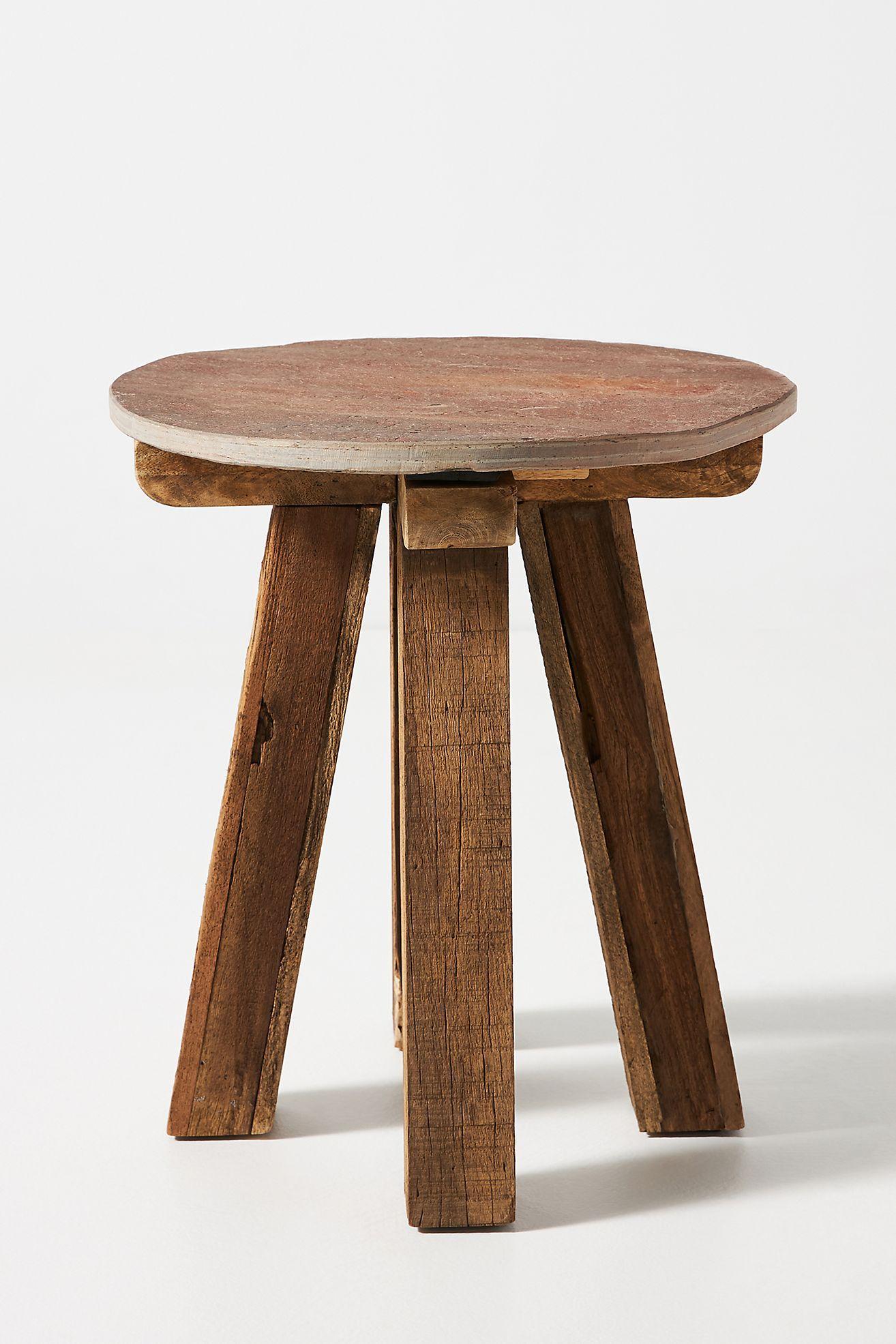Slate Indoor Outdoor Side Table In 2021 Outdoor Side Table Teak Side Table Side Table [ 1971 x 1314 Pixel ]