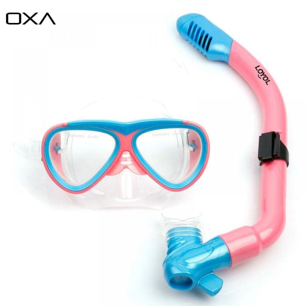 Adult Childrens Swimming Swim Diving Scuba Anti-Fog Goggles Mask Snorkel Set