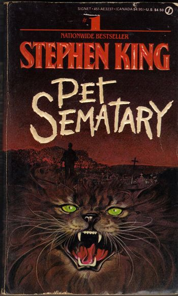 Pet Sematary by Stephen King. Loved the book and the movie!     So scared by this book!  Read it in one sitting