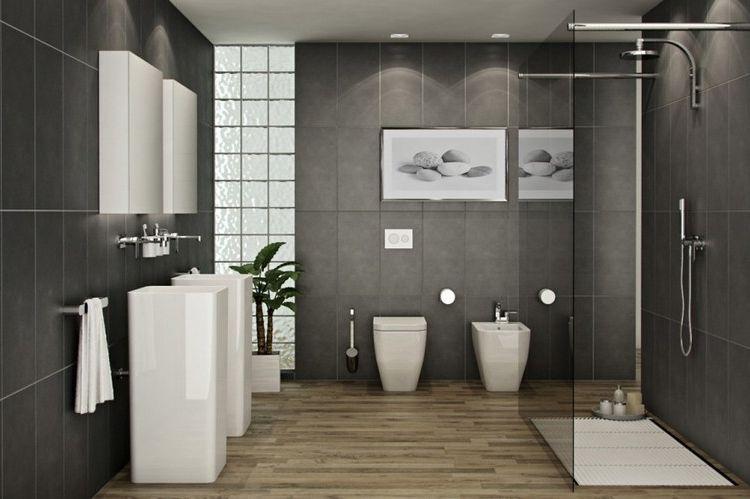 Inspiration Salle De Bain 55 Photos Pour En Tirer Des Idees Diseno De Banos Modernos Diseno De Banos Iluminacion En Banos
