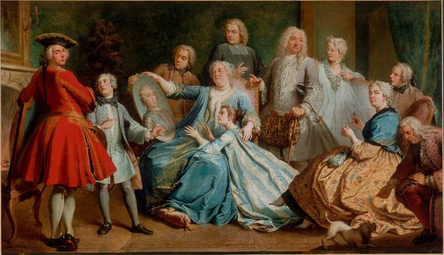 Madame Mercier Surrounded by Her Family by Jacques Dumont,1731