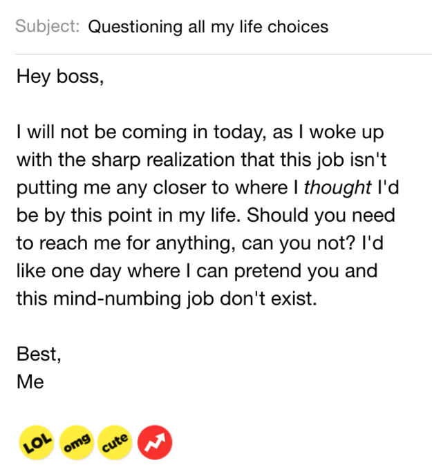 11 sick day emails you wish you could actually send cool