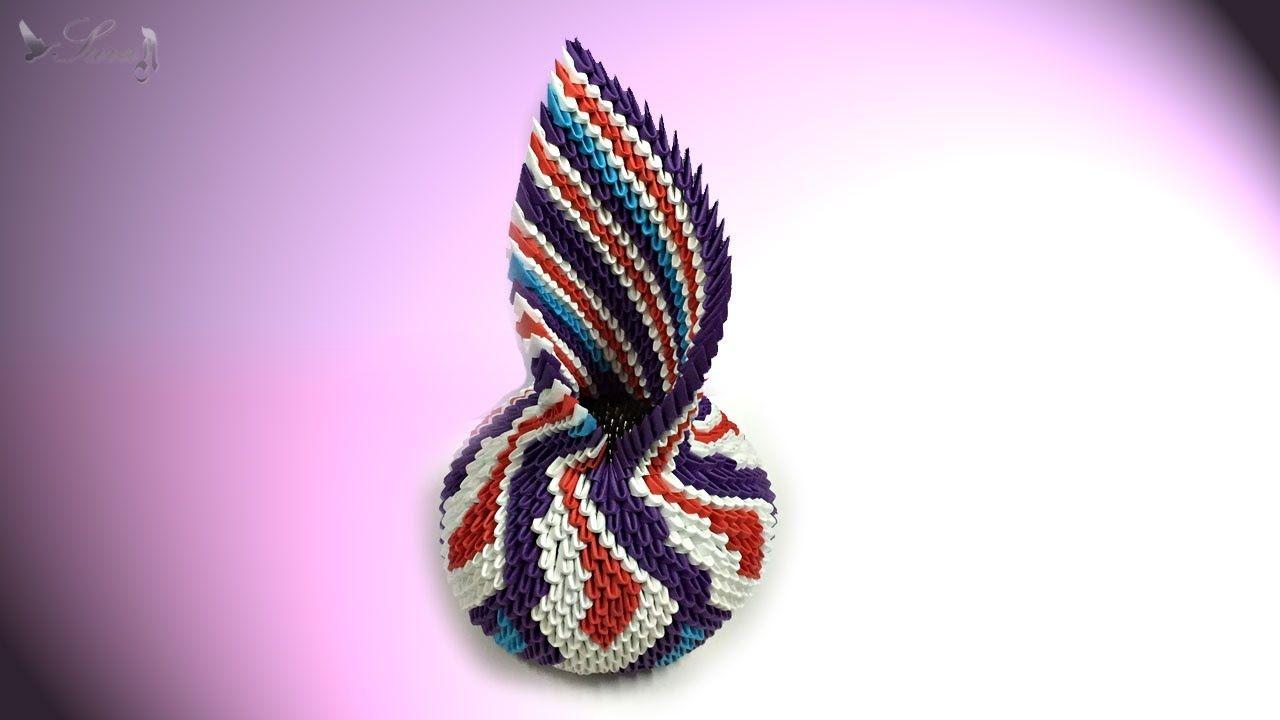 How To Make 3d Origami Vase 19 Part 3 Sara Ahmad 3d Origami