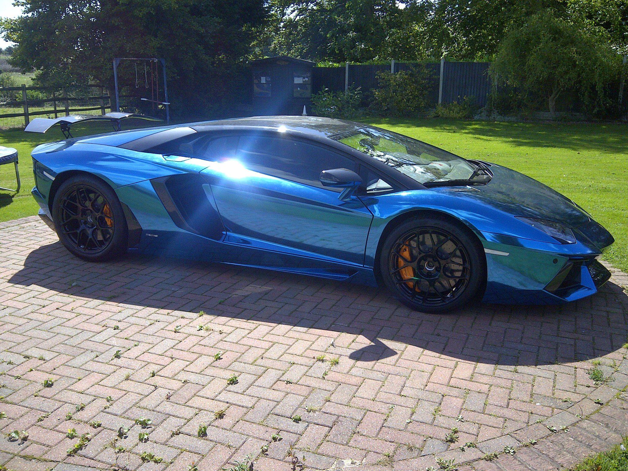 lamborghini aventador blue and lamborghini on pinterest - Lamborghini Aventador Blue Chrome