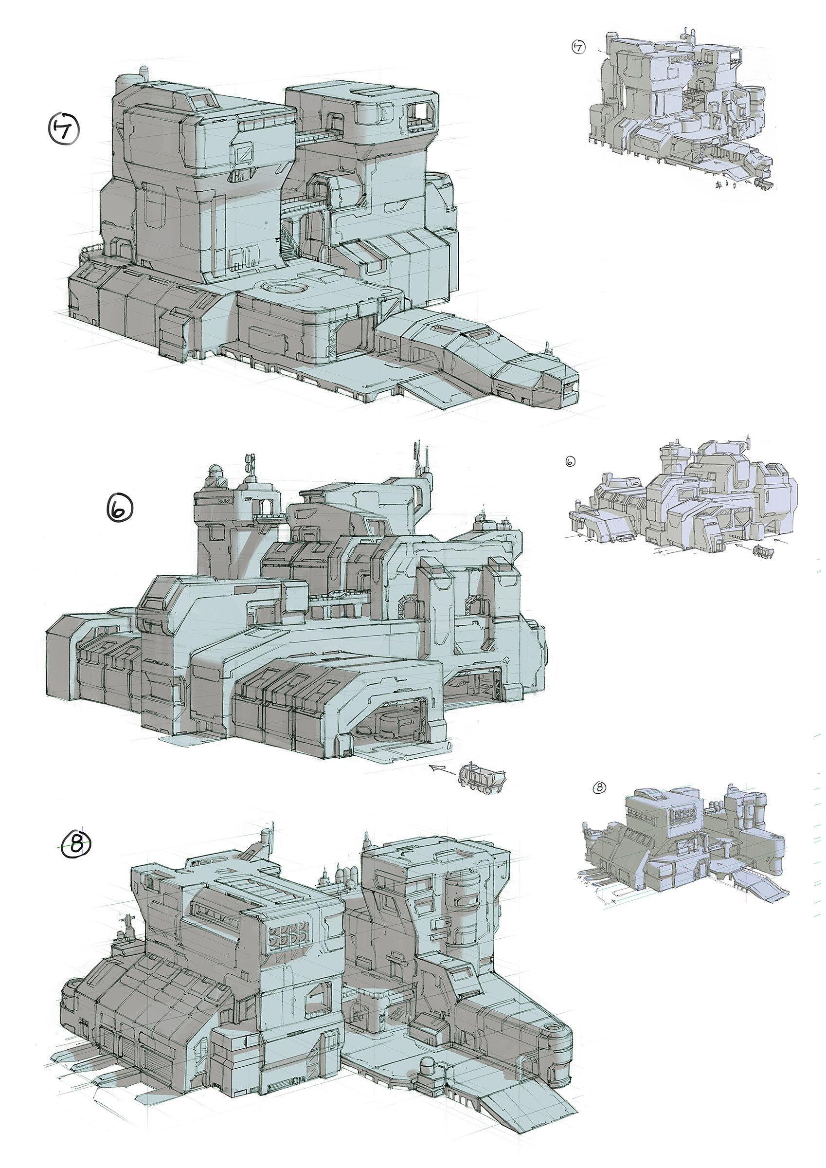 ArtStation - Exoplanet Factory, Adam Taylor   Sci-Fi ...