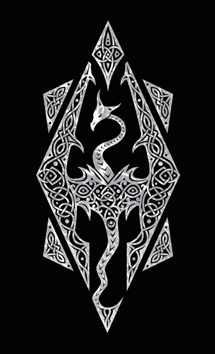 66e4e66f4 So I felt like making a Skyrim design for funsies, and I came up with this.  This symbol is usually known to be the logo for the Skyrim videogame ...