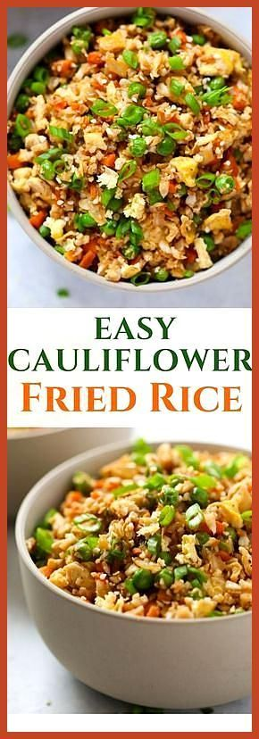 Easy Cauliflower Fried Rice #cauliflowerfriedrice Easy Cauliflower Fried Rice, #cauliflower #Easy #Fried #rice #roastedbrusselsprouts #cauliflowerfriedrice