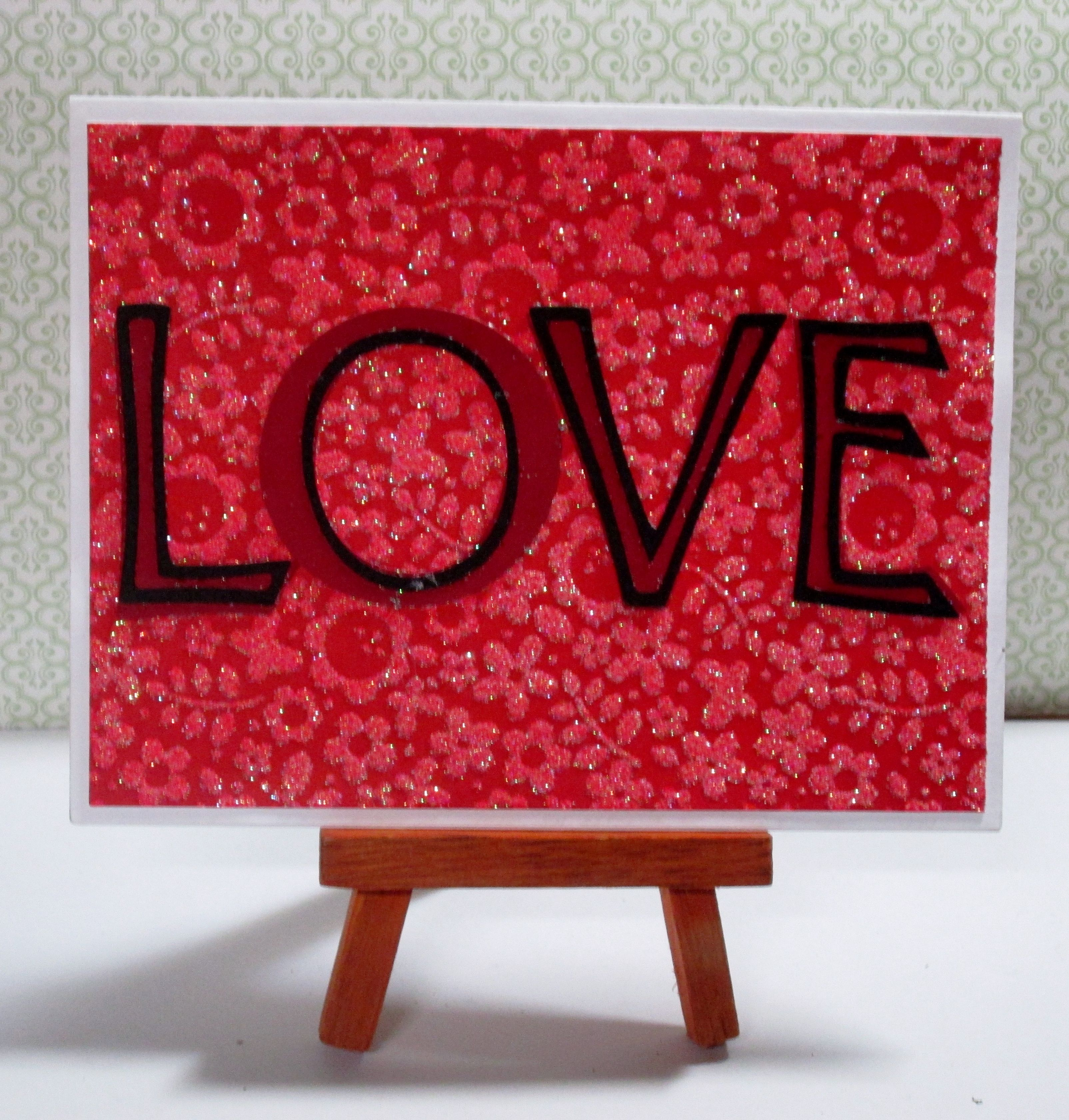 """Love Card This card measures approximately 4.25"""" x 5.5"""" in size http://kinamileli.wix.com/pink-mermaid-"""