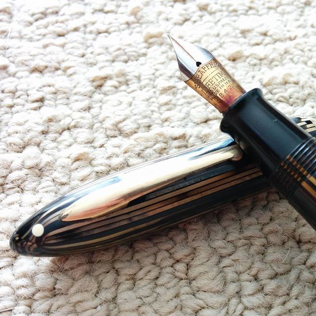 Sheaffer Balance Premier. I get to restore this for the grandson of the original owner. It's engraved with the name they share.