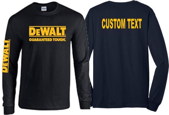 Dewalt t shirt professional contractors tools racing tee