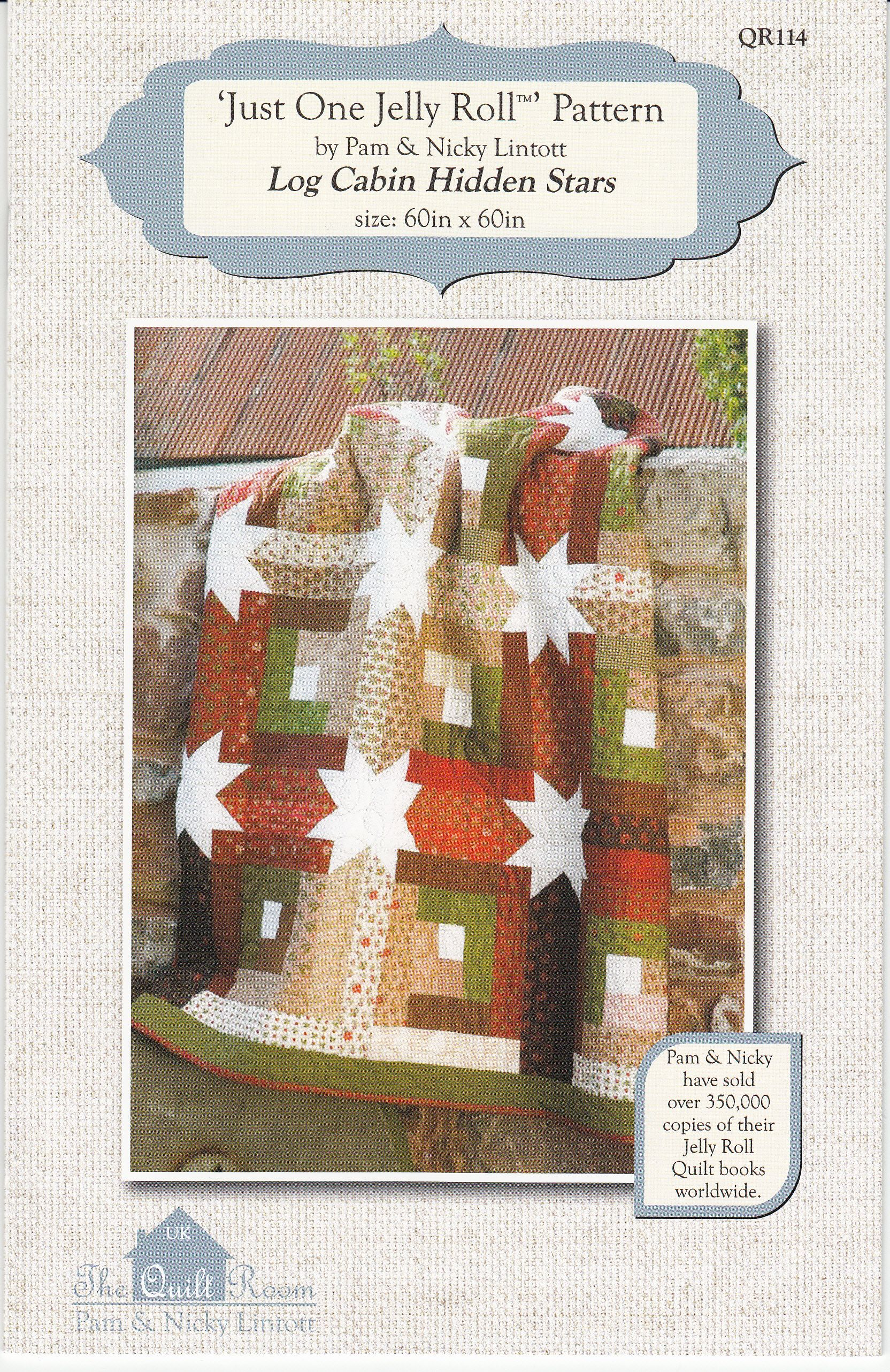 Log Cabin Hidden Stars Just One Jelly Roll By Lintott Pam