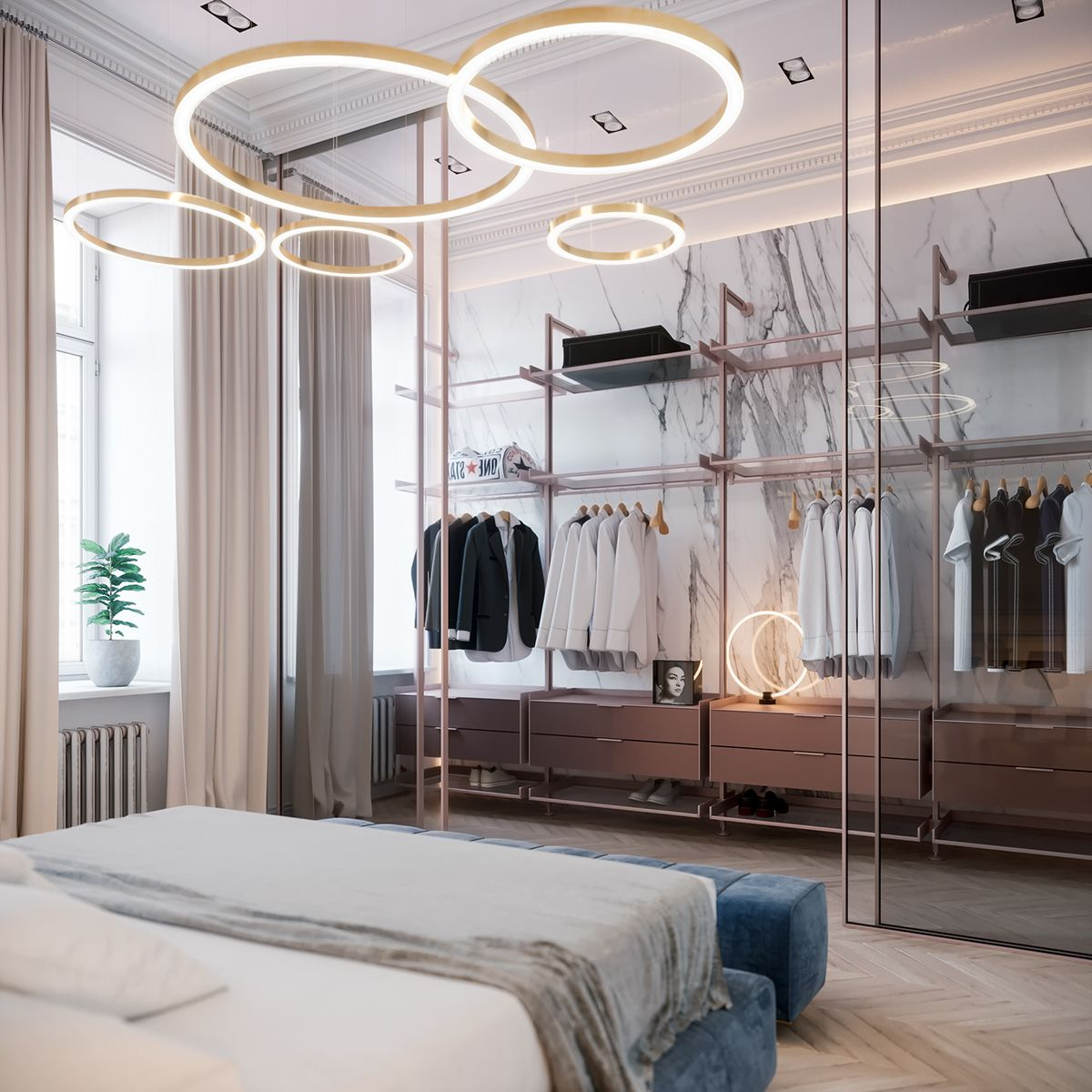Bedroom In Contemporary Style On Behance: Bedroom In St. Petersburg On Behance In 2019