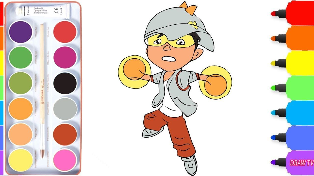 How To Draw Boboiboy Solar From Boboiboy Galaxy Coloring Pages