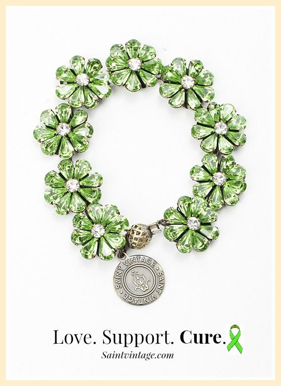 September is #LymphomaAwareness Month! Stand out with this lime green Love Links bracelet and stand up to #cancer!