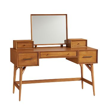 Mid-Century Vanity Desk Set