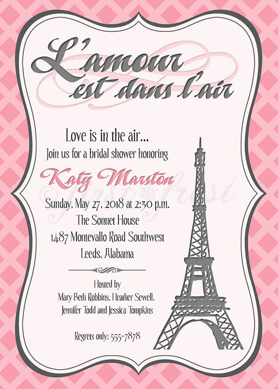 French themed eiffel tower paris party invitation card wedding french themed eiffel tower paris party by firstfrostdesigns stopboris Images