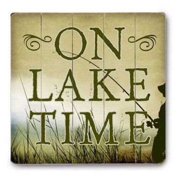 Check out this item at One Kings Lane! On Lake Time | For the lake ...
