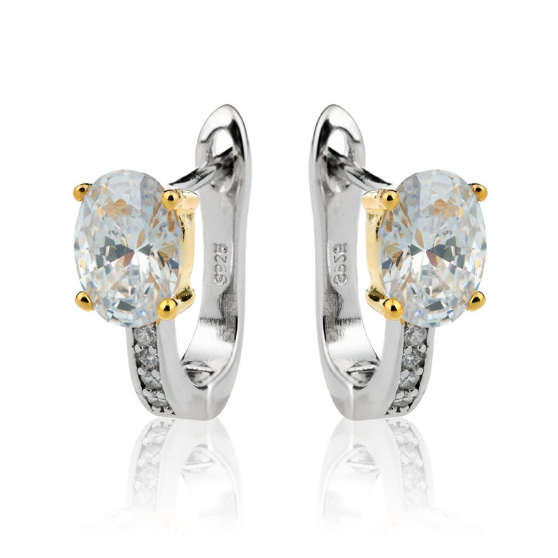 Sterling Silver Cz Earrings Cubic Zirconia Earrings Drop Etsy In 2020 Silver Cz Earrings 925 Silver Earrings Cz Earrings