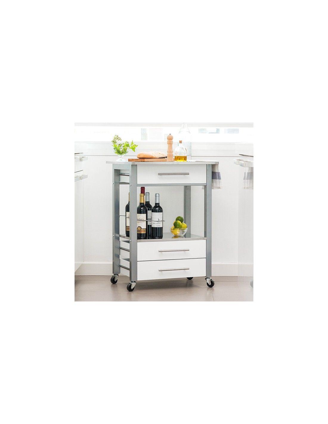 Petit Casier de Cuisine Inox 13,13 € #alvolisfr #meuble #service
