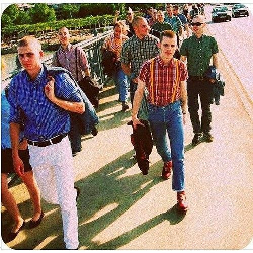 "edwardska69: "" March on #skinhead #tradskin #trojanskin #brutus #bensherman #levis #drmarten """