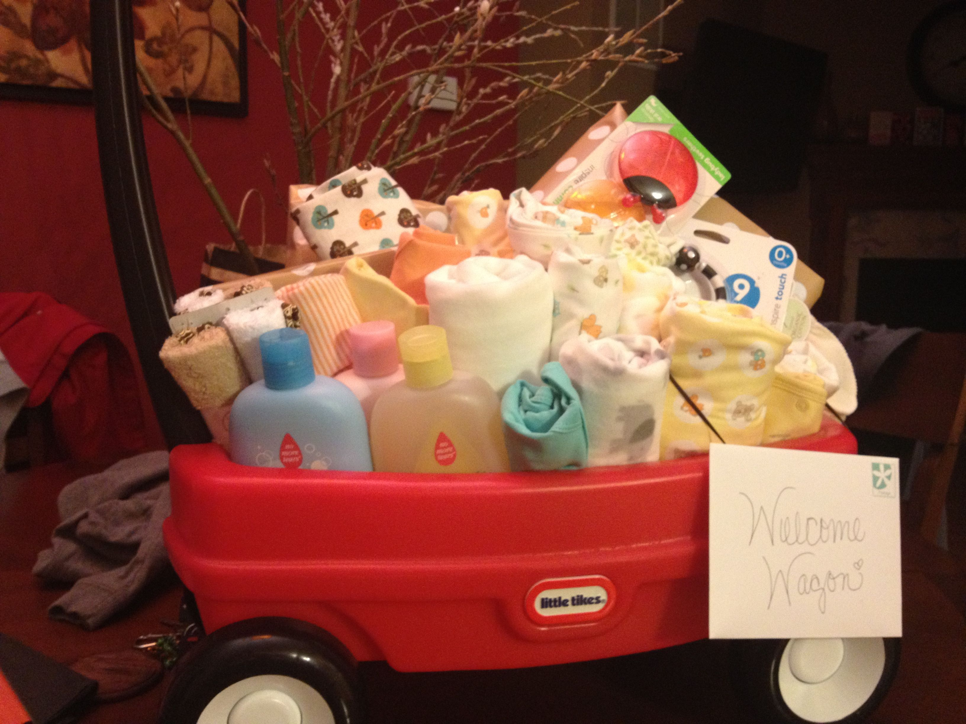 Welcome wagon baby shower gift. Made it for one of the ...