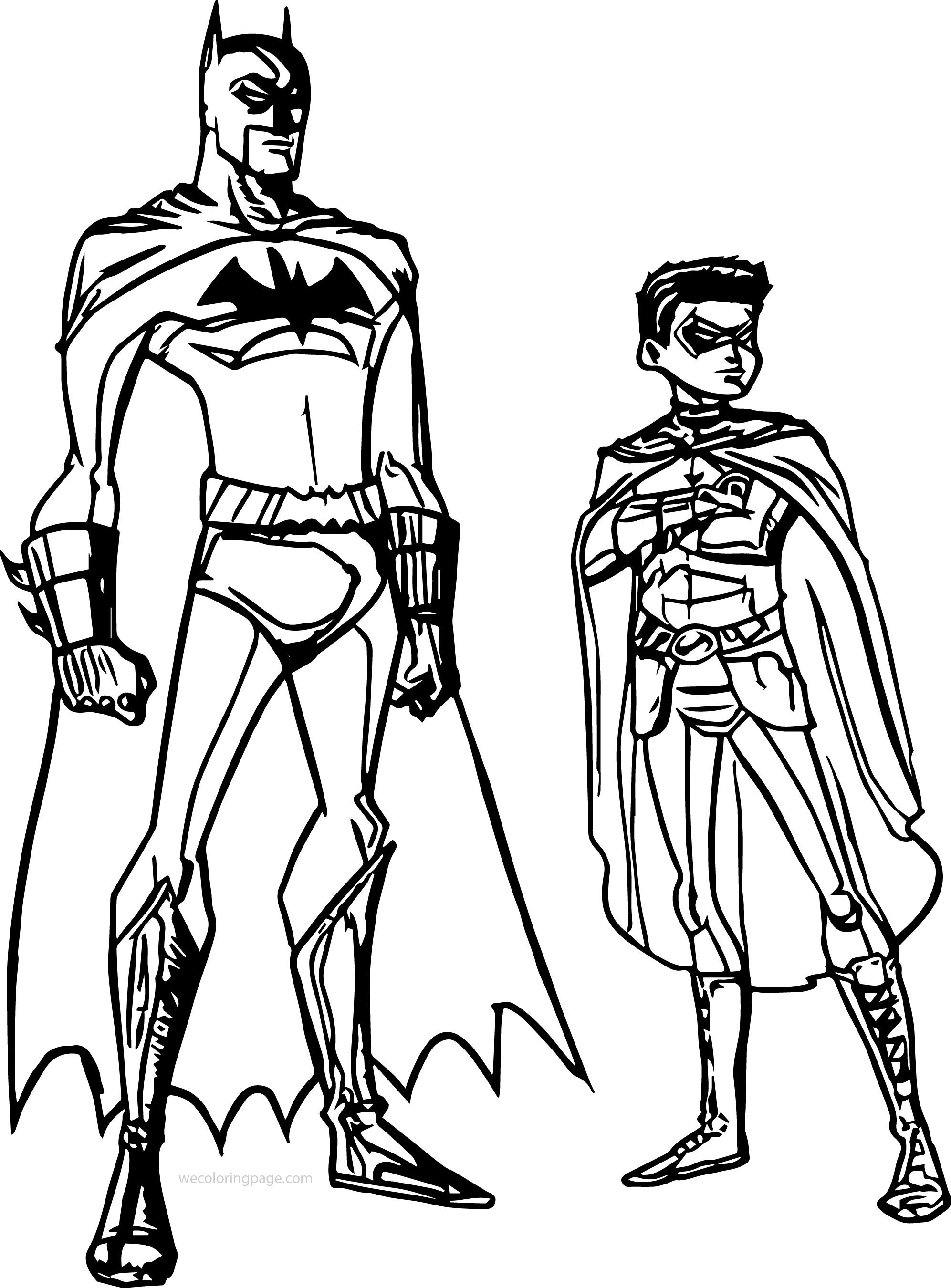 cool Batman And Robin Ready Coloring Page | Batman robin ...