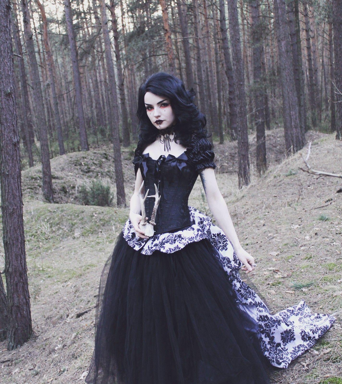 Romantic Gothic Corset Victorian Style Long Prom Gown Goth Prom Dress Long Prom Gowns Gothic Corset [ 1598 x 1424 Pixel ]
