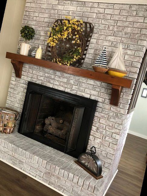 43+ The Top Color Ideas For Painting A Brick Fireplace   Fireplace Remodel Tile   2020
