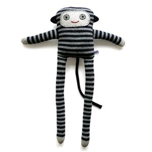 Lambswool knitted Monkey LongLegs - grey - Sally Nencini