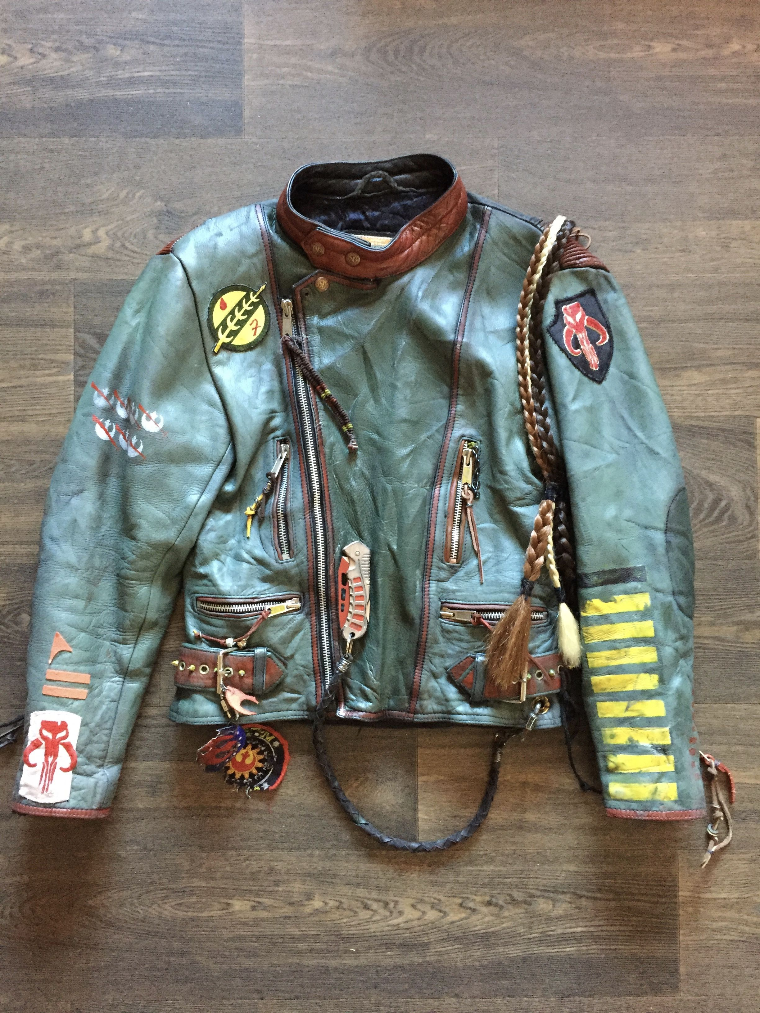Pin By Dmfoxxart On D M Foxx Custom Jackets Mandalorian Armor Custom Jacket Riding Gear