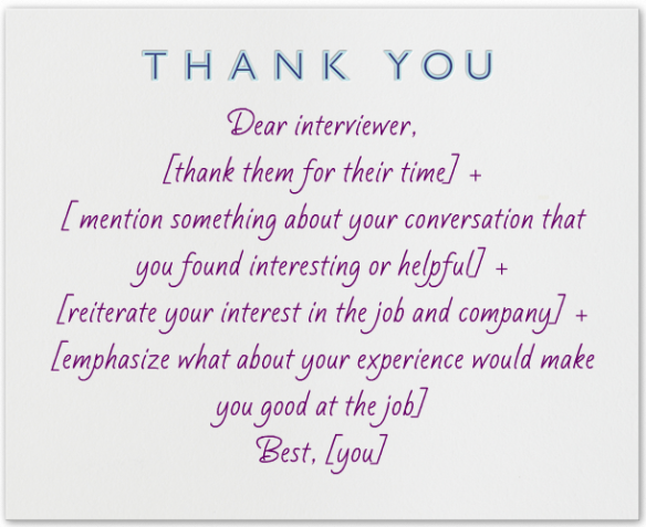 What To Write In A Thank You Note After An Interview Interview Thank You Notes Job Interview Questions Interview Thank You