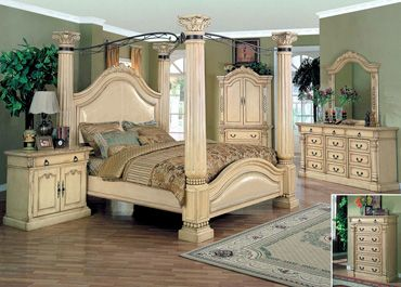 Four Poster Bedroom Sets Yuan Tai Chatsworth 4 Piece King Poster