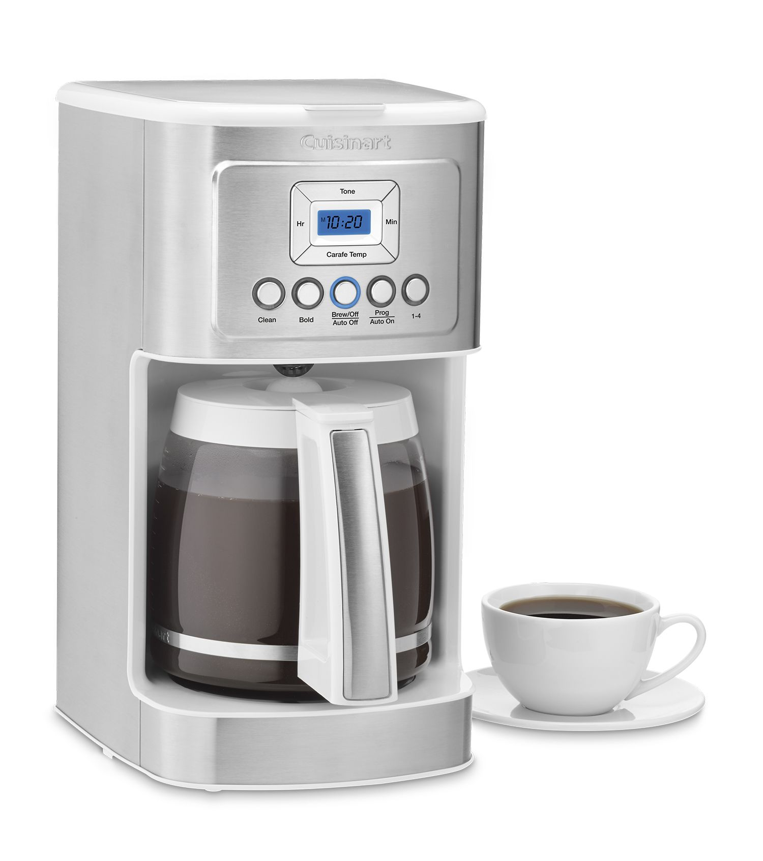 The Cuisinart 14 Cup Programmable Coffeemaker Offers The Best Of Both Worlds With Hotter Coffee And Option Coffee Maker Best Coffee Maker Electric Coffee Maker