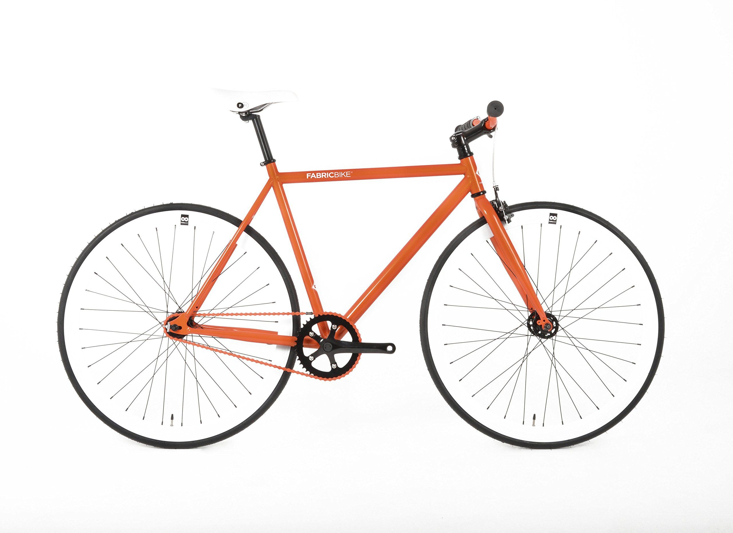 Fabricbike Bicicleta Fixie Naranja Pinon Fijo Single Speed