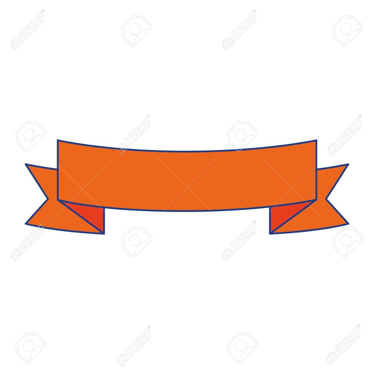 Ribbon Emblem Blank Vector Icon Illustration Graphic Design