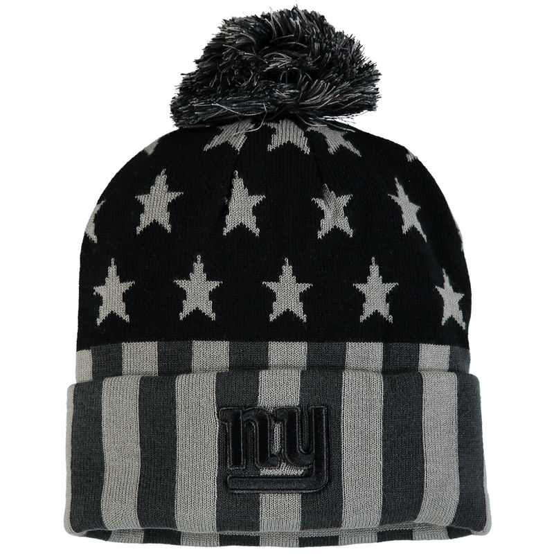 more photos b3bcd af6f9 New York Giants NFL Pro Line by Fanatics Branded Americana Stars and  Stripes Cuffed Knit Hat - Black Gray