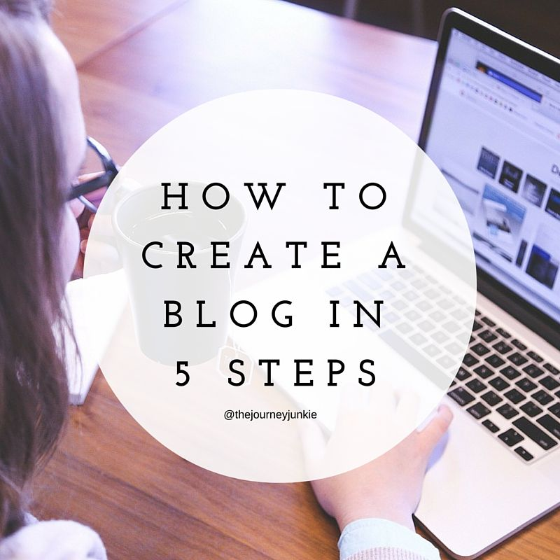 How to Create a Blog in 5 Steps - Pin now, start blogging now!